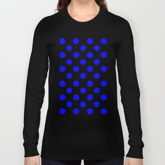 Polka Dots (Blue/White) Long Sleeve T-shirt