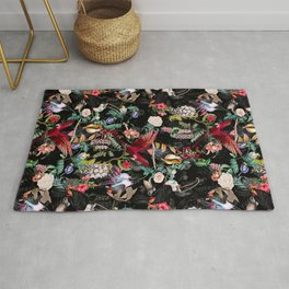 Floral and Birds IX Rug