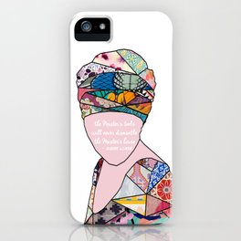 Woman in Colors - the Master's tools with never dismantle the Master's house iPhone Case