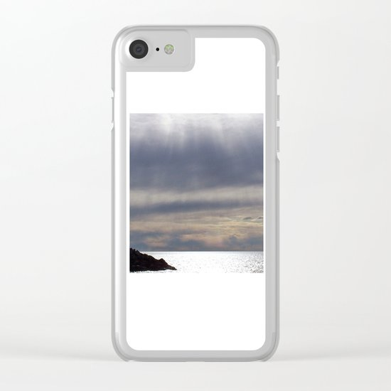 Raining Sunlight Clear iPhone Case