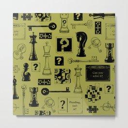 Brain Teaser Pattern Metal Print