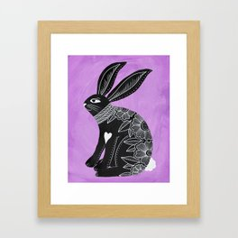 Folk Art Bunny Framed Art Print