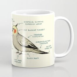 Anatomy of a Cockatiel Coffee Mug