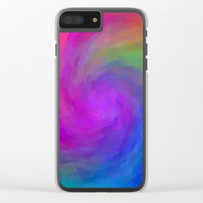Twister Of Color Clear iPhone Case