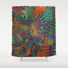 Shattered Shower Curtain