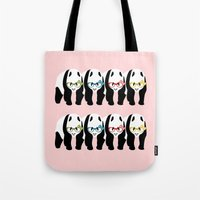 pandas Tote Bags featuring Pandas by mailboxdisco
