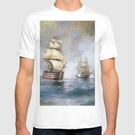 Aivasovsky Ivan - Brig Mercury Attacked By Two Turkish Ships 1892 T-shirt