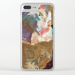Colours of the wind, and gold. Clear iPhone Case