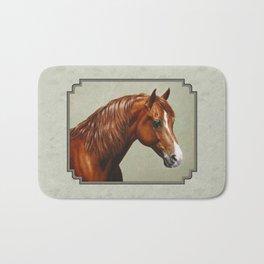 Chestnut Morgan Horse Bath Mat