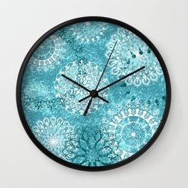 Mandala sky - Frost on your window Wall Clock
