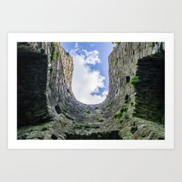 Castle Walls and Clouds Art Print