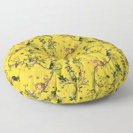 Monkey World Yellow Floor Pillow