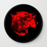 werewolf Wall Clocks featuring Werewolf by Badamg
