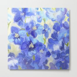 What You Always Wanted - Delphinium Blue Metal Print