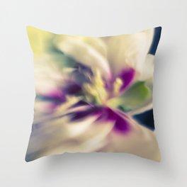 Blured flowers Throw Pillow