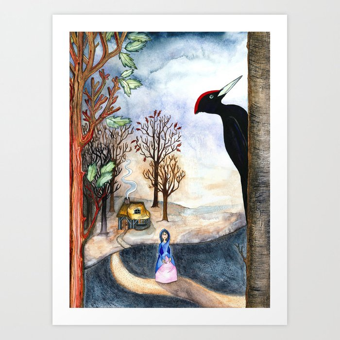 Black Woodpecker  Art Print