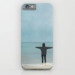 be alone and happy iPhone Case