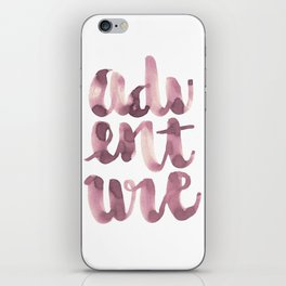 Adventure Pink Watercolor iPhone Skin