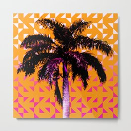Palm Tree (Orange Pink) Metal Print