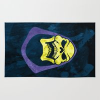 skeletor Area & Throw Rugs featuring Skeletor by Some_Designs