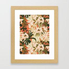 Flowering tropical coral bloom Framed Art Print