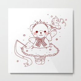 The Adventures of Bear and Baby Bear-Prima Ballerina Metal Print