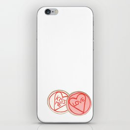 Pretty iced biscuits. iPhone Skin
