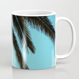 High-Contrast Palm Fronds Coffee Mug