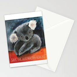SAVE THE AUSTRALIAN KOALAS, proceeds will be donated. Stationery Cards