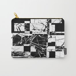 Manipulated Marble - Black and white, abstract, geometric, marble style art Carry-All Pouch