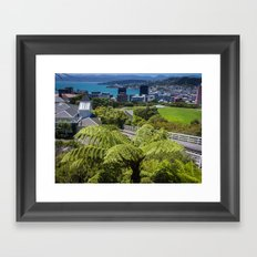 Wellington Cityscape Framed Art Print