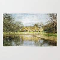 downton abbey Area & Throw Rugs featuring Missenden Abbey by Astrid Ewing