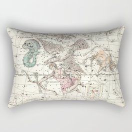 Taurus, Antinous, Aquila, Delphinus Constellations Celestial Atlas Plate 10 - Alexander Jamieson Rectangular Pillow