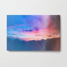 Cotton Candy Sunset Metal Print