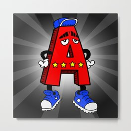 A is for AWESOME Metal Print