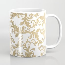 Vintage faux gold elegant floral damask Coffee Mug