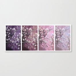 Vincent Van Gogh : Almond Blossoms Panel Art Purple Plum Canvas Print