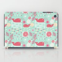 whales iPad Cases featuring Whales by Bexie Doodles