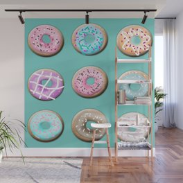Donuts for tea Wall Mural