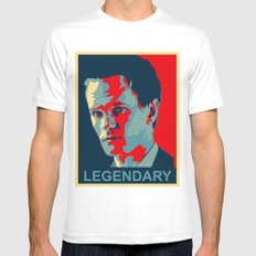 LEGENDARY MEDIUM White Mens Fitted Tee