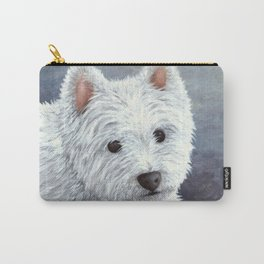 Dog 137 White Westie Carry-All Pouch