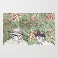 men Area & Throw Rugs featuring Old Men by Jason Ratliff
