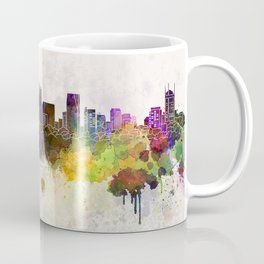 Ho Chi Minh skyline in watercolor background Coffee Mug
