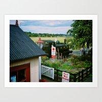 Bodiam Station, Kent & East Sussex Railway Art Print