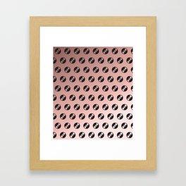 Records in Rose Gold Framed Art Print