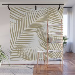 Palm Leaves - Gold Cali Vibes #1 #tropical #decor #art #society6 Wall Mural