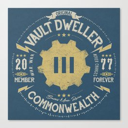 Vault 111 Member Forever Canvas Print