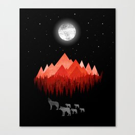 Wolf Family Canvas Print
