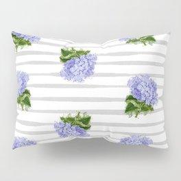 Hydrangeas flower with stripes Pillow Sham