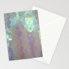 Iridescent Crystal Pattern Stationery Cards